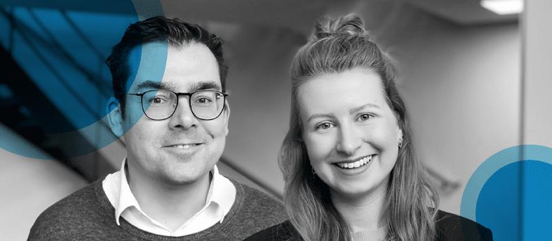 Bedrijfjournalisten Jaap en Esther