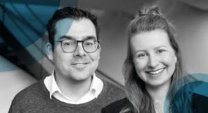 Bedrijfjournalisten Jaap en Esther klein