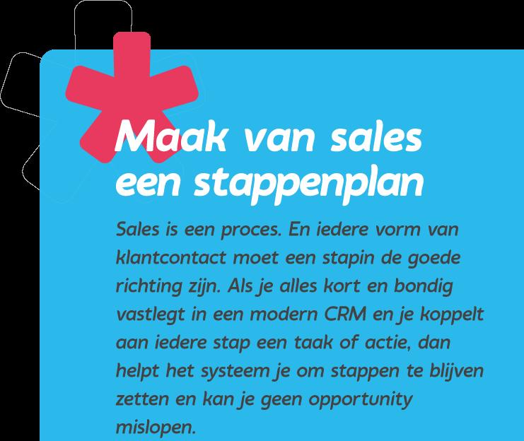 Maak van sales een stappenplan