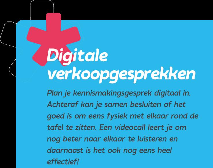 Digitale verkoopgesprekken