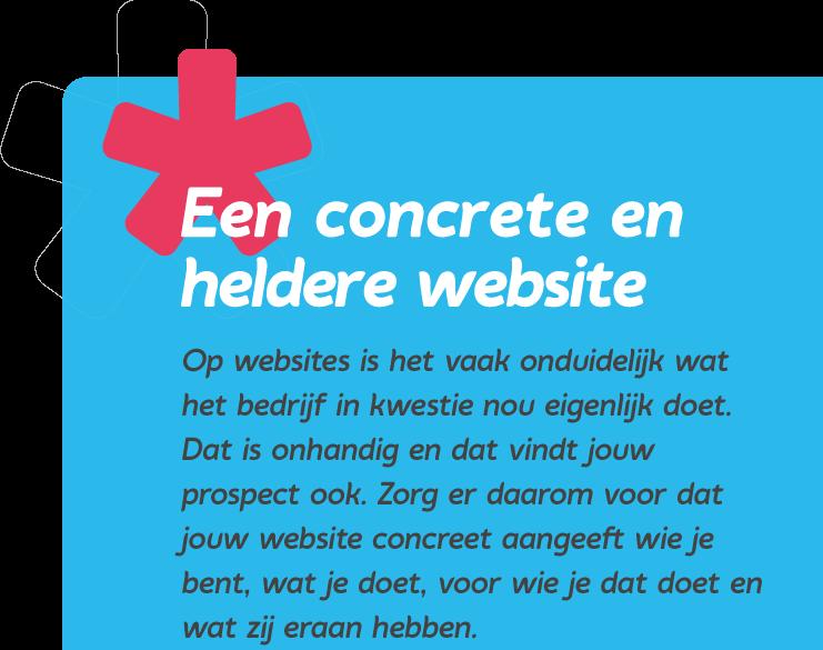 Een concrete en heldere website