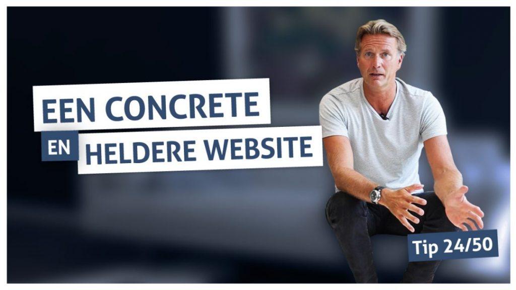 Tip 24 | Een concrete en heldere website