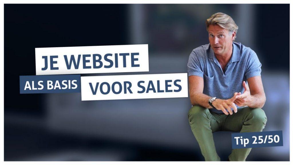 Tip 25 | Je website als basis voor sales
